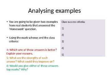 AQA Paper 2 Analysing examples