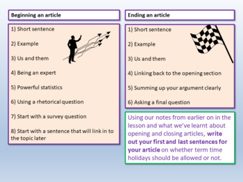 AQA Paper 2 Section B - Openings