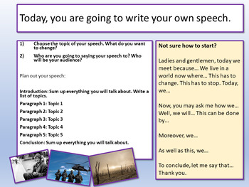 AQA Paper 2: Section B - Speech Writing