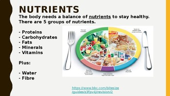 AQA Physical Education - Balanced Diet (Full Lesson PowerPoint)
