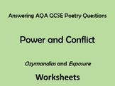 AQA Power and Conflict Poetry Comparing 'Ozymandias' and '