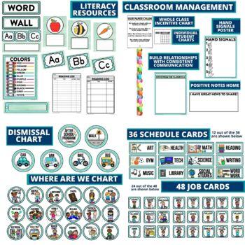 AQUA Classroom Decor EDITABLE