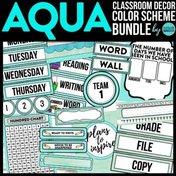 AQUA Classroom Theme EDITABLE