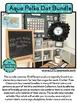 AQUA POLKA DOT Classroom Decor EDITABLE