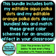AQUA and ORANGE Polka Dots Classroom Decor Bundle EDITABLE