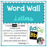 Aqua & Rainbow Word Wall Letters
