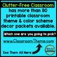 AQUA and RED Polka Dots Classroom Decor Bundle EDITABLE
