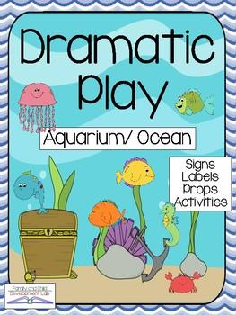 AQUARIUM Dramatic Play Center (OCEAN ANIMALS)
