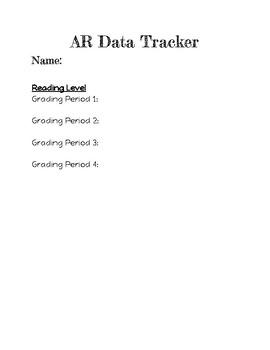 AR/40 book challenge data tracker