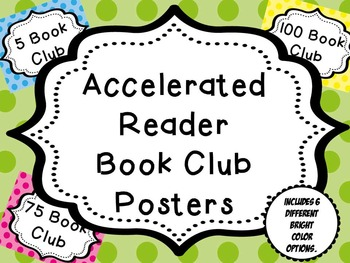 AR (Accelerated Reader) Bright Dot Book Club Posters