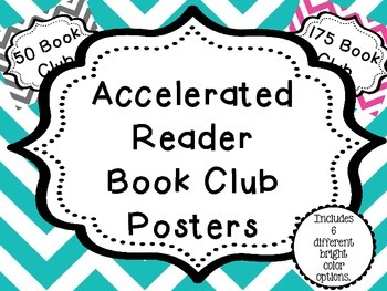 AR (Accelerated Reader) Chic Chevron Club Posters