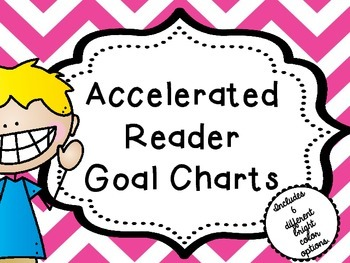 AR (Accelerated Reader) Chic Chevron Goal Posters