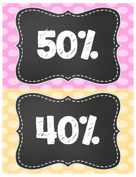AR (Accelerated Reader) Clip Chart - Percentage of Goal Met (Chalkboard Theme)