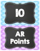 AR (Accelerated Reader) Clip Chart - Points Achieved (Chalkboard Theme)