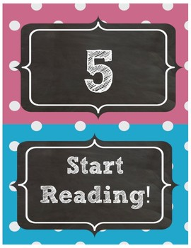 AR Accelerated Reader Clipchart 0-120 Chalkboard Theme