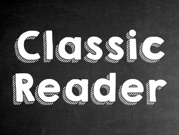 AR (Accelerated Reader) Club Posters-Chalkboard Theme