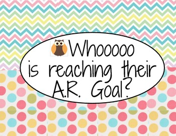 AR (Accelerated Reader) Percentage Posters for Goals