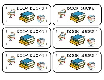 AR Accelerated Reader Punch Cards and Book Bucks