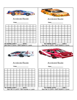 AR- Accelerated Reader Score Card- Keep track of reading points