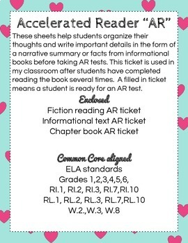 AR Accelerated Reading Test Tickets