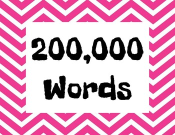 AR (Accelerated Reading) Word Count Chart
