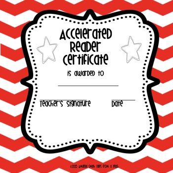 Accelerated Reader Award Certificates: Ready to Use Printables