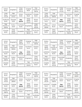 AR Bingo Card
