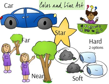 AR Blend Phonics Clip Art Set 2 - Color and Line Art 14 pc set