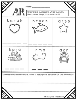 AR Digraph: Unscramble The Word