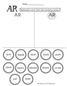 AR Blend: Word Sort