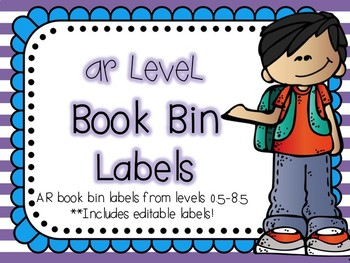 AR Book Bin Labels