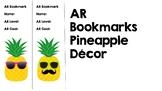 AR Bookmarks Pineapple Decor Editable