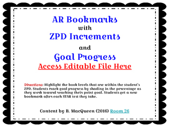 AR Bookmarks with ZPD Level Increments (Google Drive)