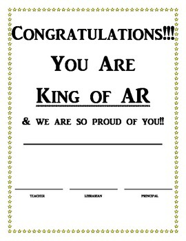 AR Celebration Announcement and Certificates