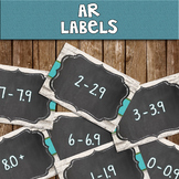 AR - Chalkboard Library Labels