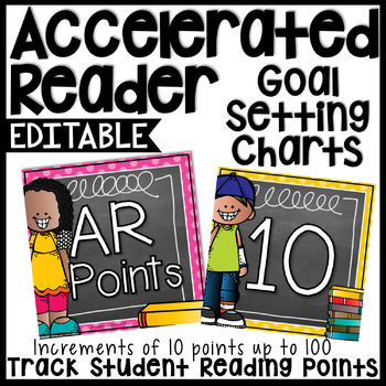AR Chart by 10's - Chalkboard & Polka Dots