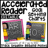 AR Chart by 10's in Percentages - Chalkboard & Polka Dots