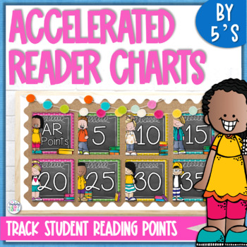 AR Points Clip Chart by 5's - Chalkboard & Polka Dots