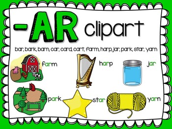 AR  R-Controlled Vowel Clipart by Teacher Laura