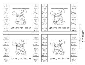 AR Differentiated Punch Cards- Spring Theme