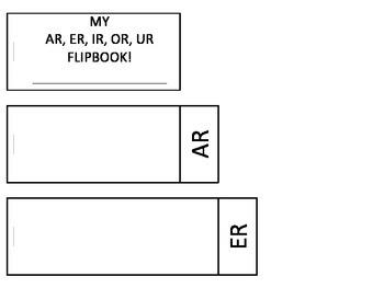 AR, ER, IR, OR, UR Flipbook!