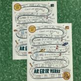 AR, ER, IR Spanish verb game board no prep Spanish verb practice