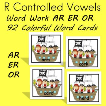 AR ER OR Word Work