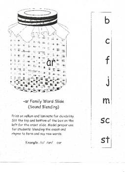 /AR/ Family Word Slide