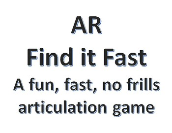 AR Find it Fast