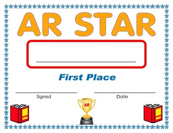 AR First Place Award