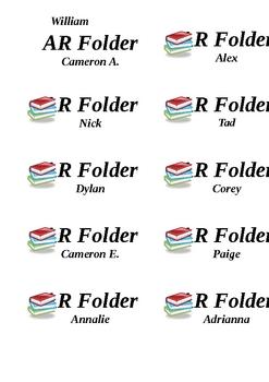 AR Folder Labels