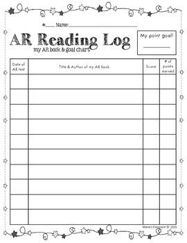 AR Goal & Book Log