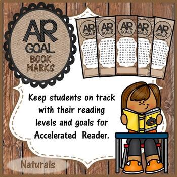 AR Goal Bookmarks - Naturals
