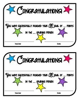 AR Goal Certificates